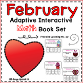 February Adaptive Math Book Set (set of 4 counting books)