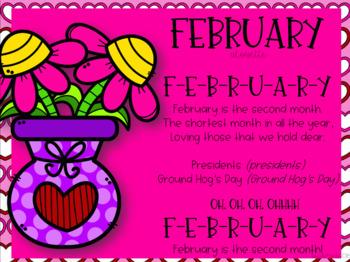 February Interactive Calendar Flipchart for 1st Grade