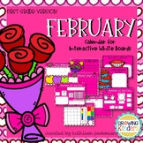 February Interactive Calendar Flipchart for 1st Grade
