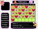 February  Interactive Flipchart Calendar for Promethean Board