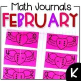 February Interactive Math Journal Kindergarten