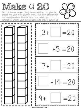 February Interactive Math Journals