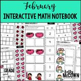 February Interactive Math Notebook Kindergarten