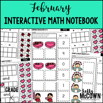 February Interactive Math Notebook Kindergarten