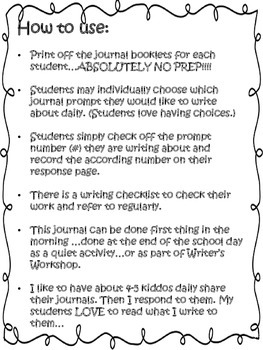 February Journal Booklet...YOU PICK IT...NO prep!!!