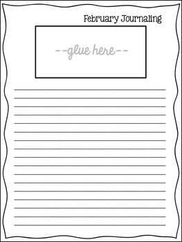 February Journal Prompt Clips-Grades 3-6