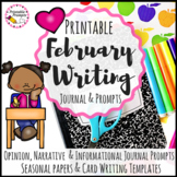 February Writing Prompts & February Writing Activities