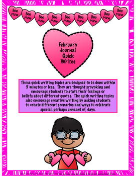 February Journal Quick Writes