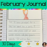 February Journal Writing   Writing Prompts