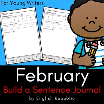 February Build a Sentence Journal for Young Writers