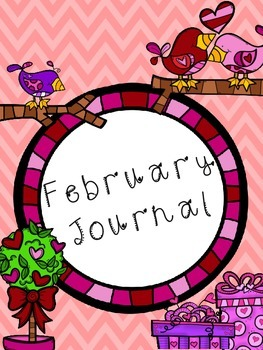 February Journal with prompts and template -- ready to print