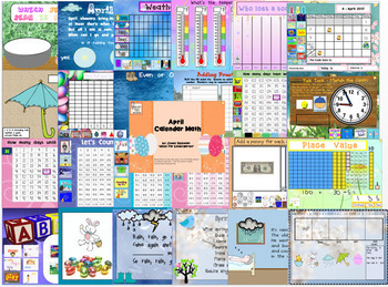 February-June Calendar Math for the Promethean Board (Activboard) BUNDLE!