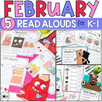 February K-1 Bundle: Interactive Read-Aloud Lesson Plans Curriculum