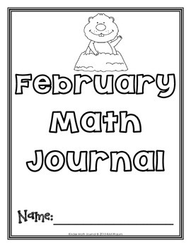 February Kinder Math Journal
