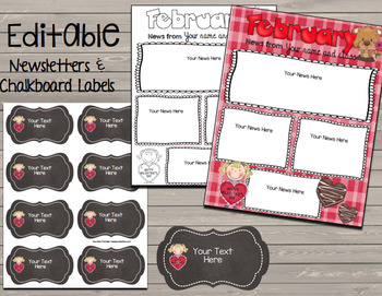 February Kindergarten BUNDLE No Prep Math & Literacy, Centers - Newsletter