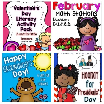 February Kindergarten Bundle