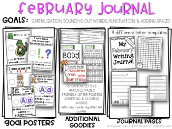 Kindergarten writing journal february friendly letter writing tpt kindergarten writing journal february friendly letter writing spiritdancerdesigns Image collections