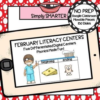 February Kindergarten Digital Literacy Centers For GOOGLE CLASSROOM