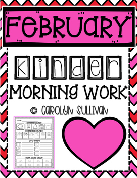 February Kindergarten Literacy Morning Work