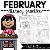 February Kindergarten Literacy Practice