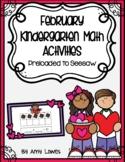 February Kindergarten Math Activities Preloaded to Seesaw