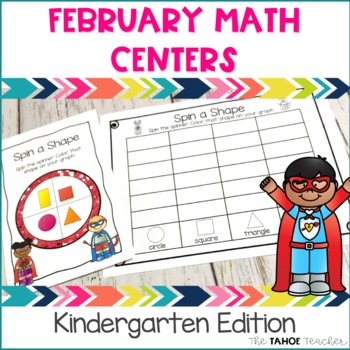 February Math Centers for Kindergarten