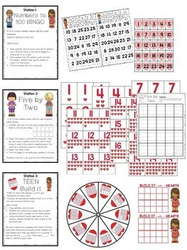 Kindergarten Math Centers February