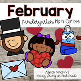 February Kindergarten Math Centers with Task Cards