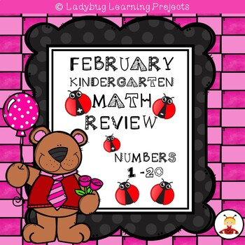 February Kindergarten Math Review for Numbers 1 - 20