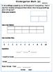 Kindergarten February Math class/homework review and spiral learning