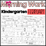 Morning Work:  Kindergarten February Packet (Common Core D
