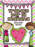 February Kindergarten Morning Work in Spanish Trabajo por la mañana