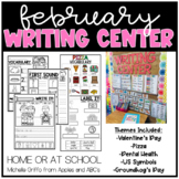 February Kindergarten Writing Center - Distance Learning a