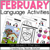 February Language Activities for Speech Therapy