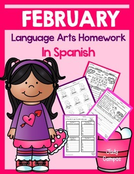 February Language Arts HW Pack (First Grade)