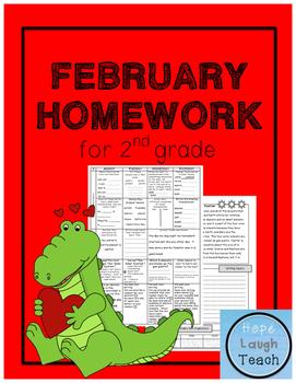 2nd Grade Spiral Language Arts Homework- February