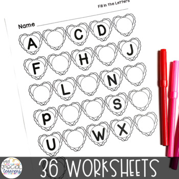 February Language Arts Printables for Special Education