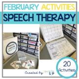 February Monthly Themed Speech Therapy | Leap for Speech and Language