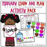 February Learn and Play Activity Pack-A 2-3 Year Old Stand