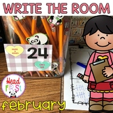 Valentines Day Hunts - Write the Room - I Spy Literacy and Math Centers