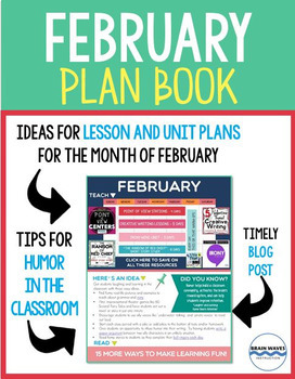 February Lesson Ideas, Tips, Tricks, and News for the entire month