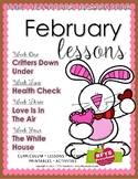 February Lesson Plans Series 3 [Four 5-day Units]