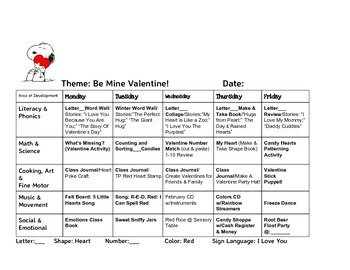 February Lesson Plans, Theme-based. 4 Weeks