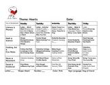 February Lesson Plans, Theme-based. 4 Weeks