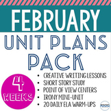February Lessons, Units, and Activities for the Entire Month - 5 Unit Bundle