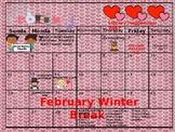 February Library Calendar 2017