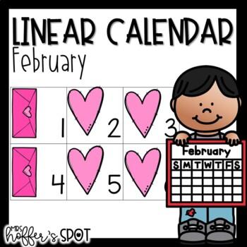 Linear Calendar -February