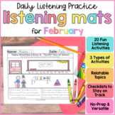 Listening & Following Directions Activities for February