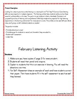 February Listening Activity