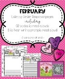February Listening Center Response Pages QR Codes to read-alouds & Prompts